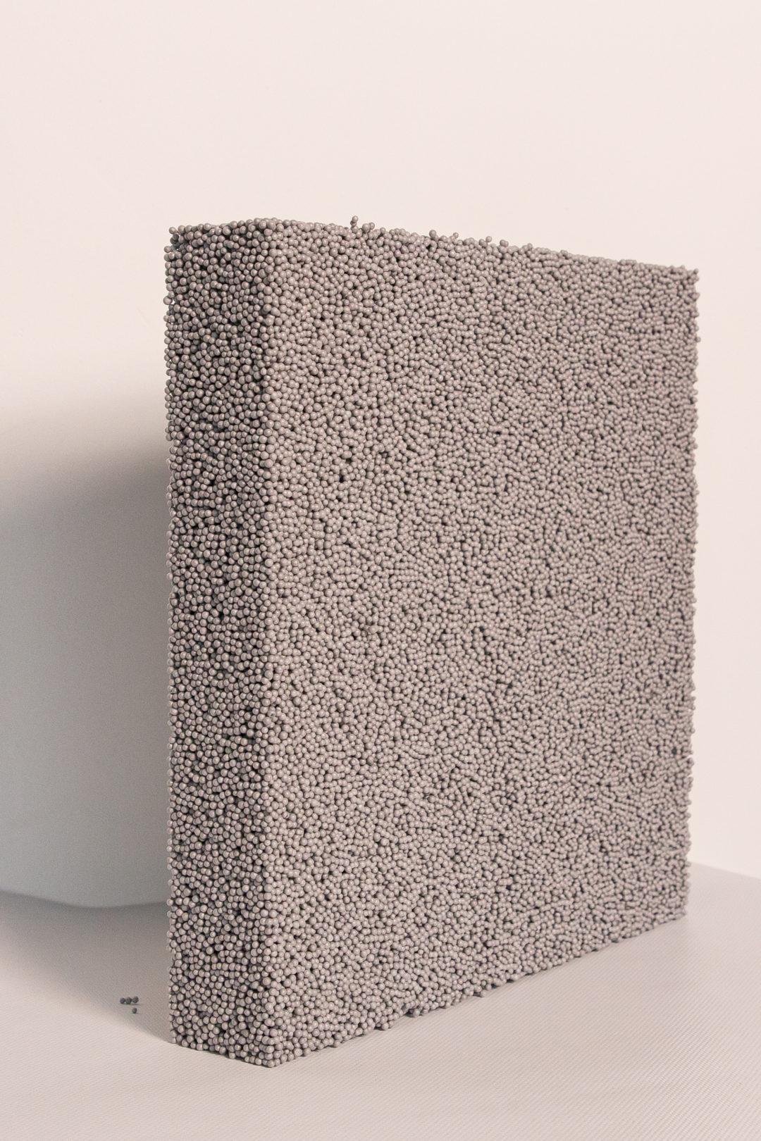 Billes de polystyrene agglomérées